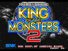 King of the Monsters 2 - The Next Thing (NGM-039 ~ NGH-039) Title Screen