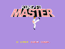 Kung-Fu Master (World) Title Screen