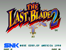 Last Blade 2 / Bakumatsu Roman: Dai Ni Maku Gekka no Kenshi, The Title Screen