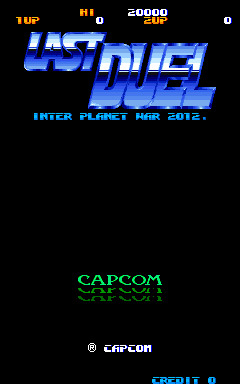 Last Duel (Japan) Title Screen