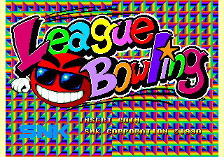 League Bowling Title Screen
