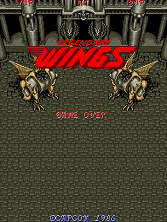 Legendary Wings (US set 1) Title Screen