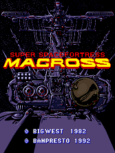 Super Spacefortress Macross / Chou-Jikuu Yousai Macross Title Screen