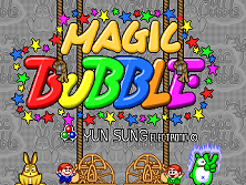 Magic Bubble Title Screen
