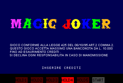 Magic Joker (v1.25.10.2000) Title Screen