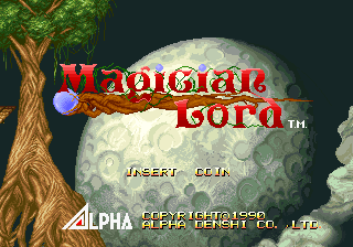 Magician Lord (Set 1) Title Screen