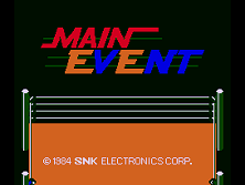 Main Event (1984) Title Screen