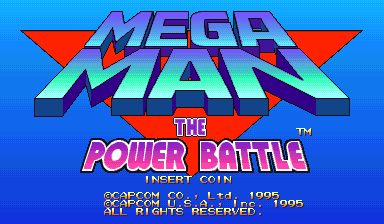 Mega Man: The Power Battle (CPS1 Asia 951006) Title Screen