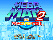 Mega Man 2: The Power Fighters (USA 960708) Title Screen