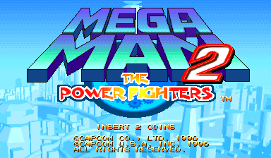 Mega Man 2: The Power Fighters (USA 960708 Phoenix Edition) (bootleg) Title Screen