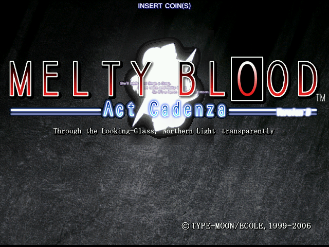 Melty Blood Act Cadenza Version B2 (Japan) (GDL-0039A) Title Screen