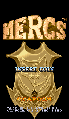 Mercs (USA 900302) Title Screen