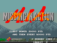 M.I.A. - Missing in Action (version T) Title Screen