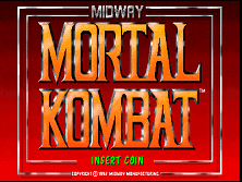 Mortal Kombat (rev 5.0 T-Unit 03/19/93) Title Screen