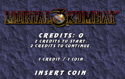Mortal Kombat 3 (rev 1 chip label p4.0) Title Screen