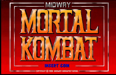 Mortal Kombat (prototype, rev 4.0 07/14/92) Title Screen