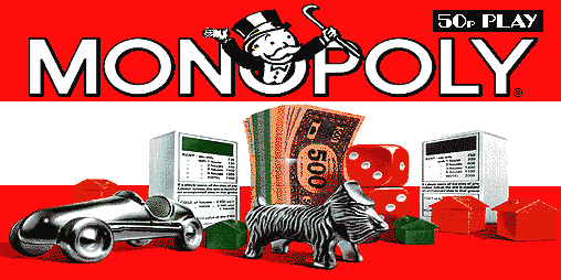 Monopoly (JPM) (SYSTEM5 VIDEO, set 1) Title Screen