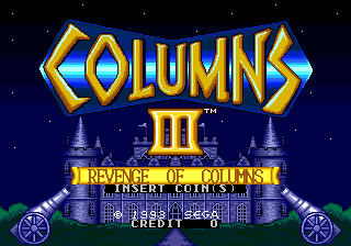 Columns III (Mega Play) Title Screen