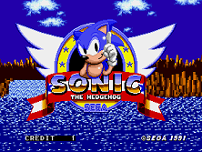 Sonic The Hedgehog (Mega Play) Title Screen