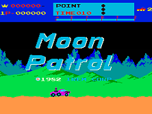 Moon Patrol Title Screen