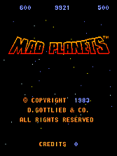 Mad Planets Title Screen