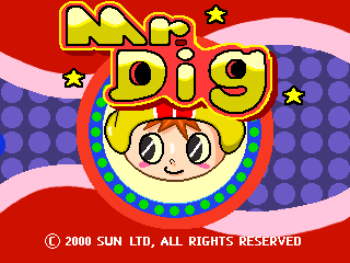 Mr. Dig Title Screen
