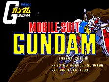 Mobile Suit Gundam Title Screen