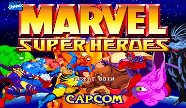 Marvel Super Heroes (US 951024 Phoenix Edition) (bootleg) Title Screen