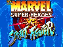 Marvel Super Heroes Vs. Street Fighter (Euro 970625) Title Screen