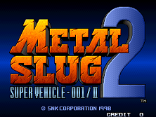 Metal Slug 2 - Super Vehicle-001/II (NGM-2410 ~ NGH-2410) Title Screen