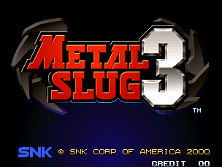 Metal Slug 3 (NGM-2560) Title Screen