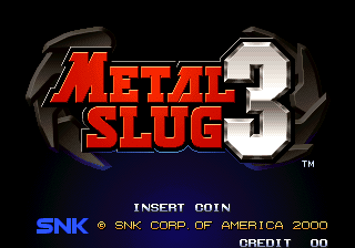 Metal Slug 3 (NGH-2560) Title Screen