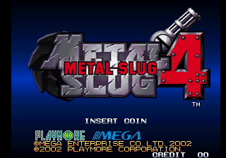 Metal Slug 4 (NGH-2630) Title Screen