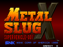 Metal Slug X: Super Vehicle-001 Title Screen