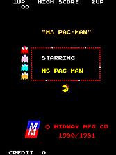 Ms. Pac-Man Title Screen
