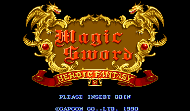Magic Sword: Heroic Fantasy (World 900725) Title Screen