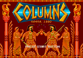 Columns (Mega-Tech) Title Screen