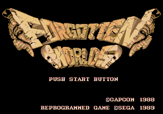 Forgotten Worlds (Mega-Tech) Title Screen