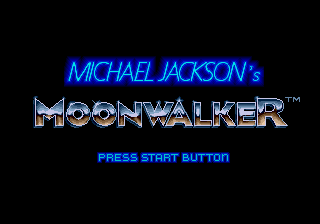 Michael Jackson's Moonwalker (Mega-Tech) Title Screen