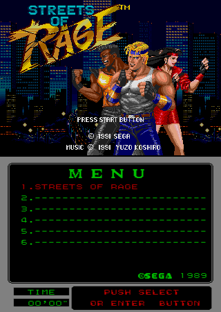 Streets of Rage (Mega-Tech) Title Screen