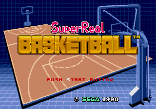 Super Real Basketball (Mega-Tech) Title Screen