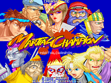 Martial Champion (ver EAB) Title Screen