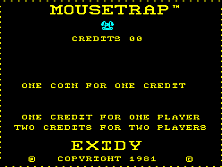 Mouse Trap (version 5) Title Screen