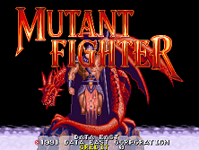 Mutant Fighter (World ver EM-5) Title Screen