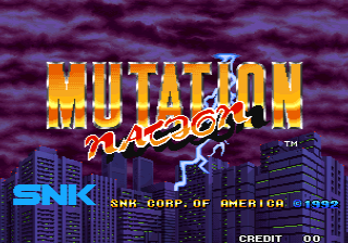 Mutation Nation (NGM-014 ~ NGH-014) Title Screen
