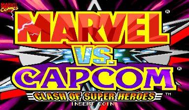 Marvel Vs. Capcom: Clash of Super Heroes (Asia 980123) Title Screen