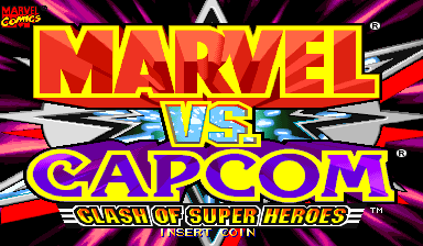 Marvel Vs. Capcom: Clash of Super Heroes (Asia 980112) Title Screen