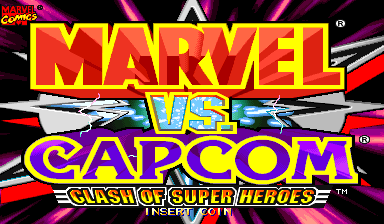 Marvel Vs. Capcom: Clash of Super Heroes (Brazil 980123) Title Screen
