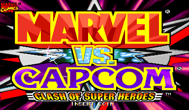 Marvel Vs. Capcom: Clash of Super Heroes (Hispanic 980123) Title Screen