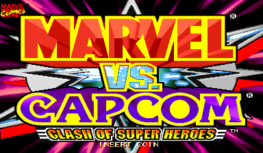 Marvel Vs. Capcom: Clash of Super Heroes (Japan 980123) Title Screen